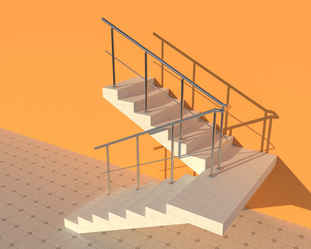 Фото перила для лестниц