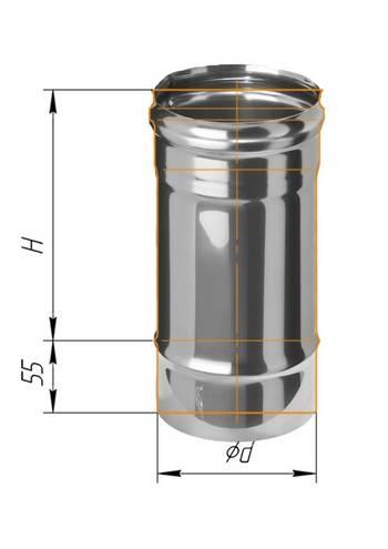 Дымоход 0,25 ∅ 100 (430 / 0,5)