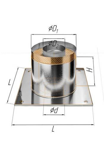 Потолочно-проходной узел (термо) ∅ 200 (430 / 0,5)