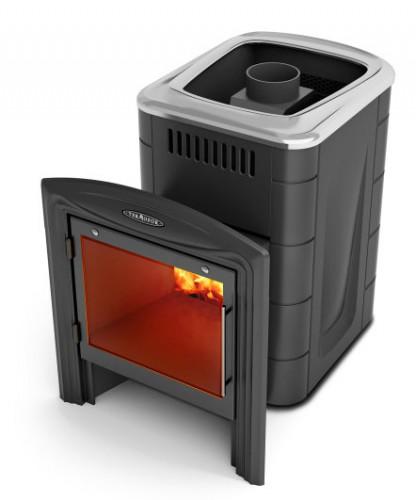 Банная печь Компакт 2013 Inox Витра антрацит (Термофор)