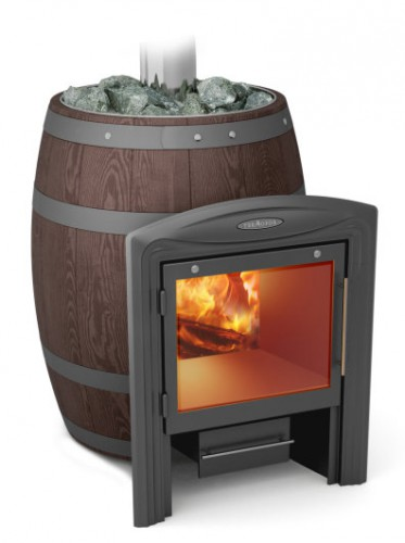 Банная печь Вариата Inox Витра Баррель палисандр (Термофор)