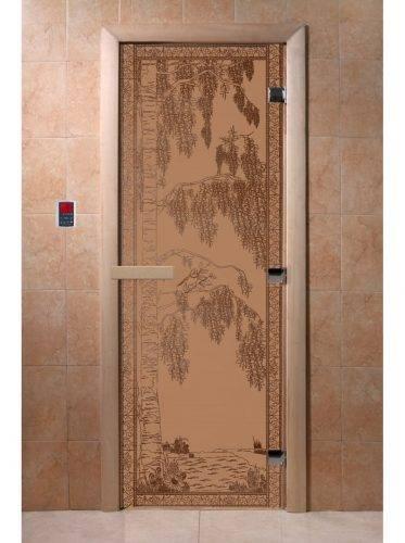 Дверь для бани Березка, матовая