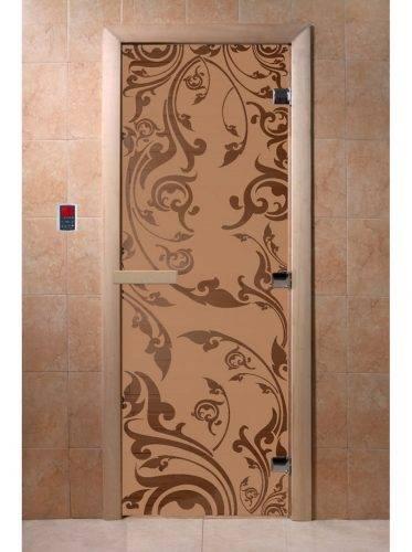 Дверь для бани Венеция, матовая