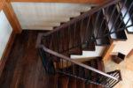 Деревянная лестница вид сверху